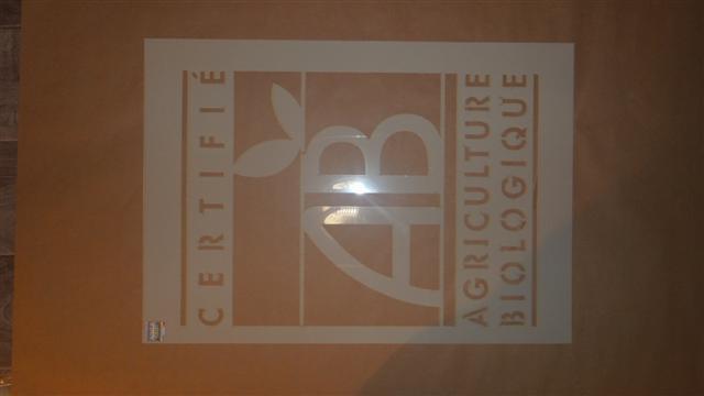 pochoir logo agriculture biologique