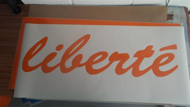 sticker orange liberte
