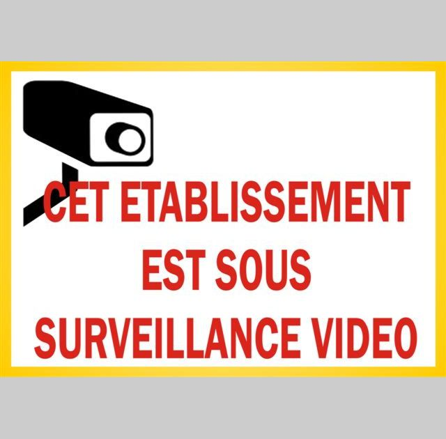 Autocollant camera video surveillance