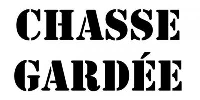 pochoir Chasse Gardée