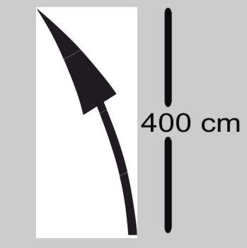 Flèche routiere courbée