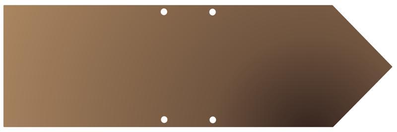 Fleche pour panneaux indications en bois