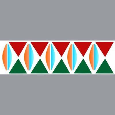 pochoir frise géométrique