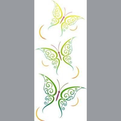 pochoir frise papillons verticale