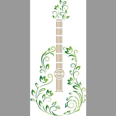 pochoir guitare design