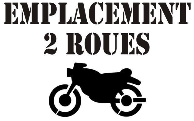 Marq60774 emplacement 2 roues moto pochoir parking