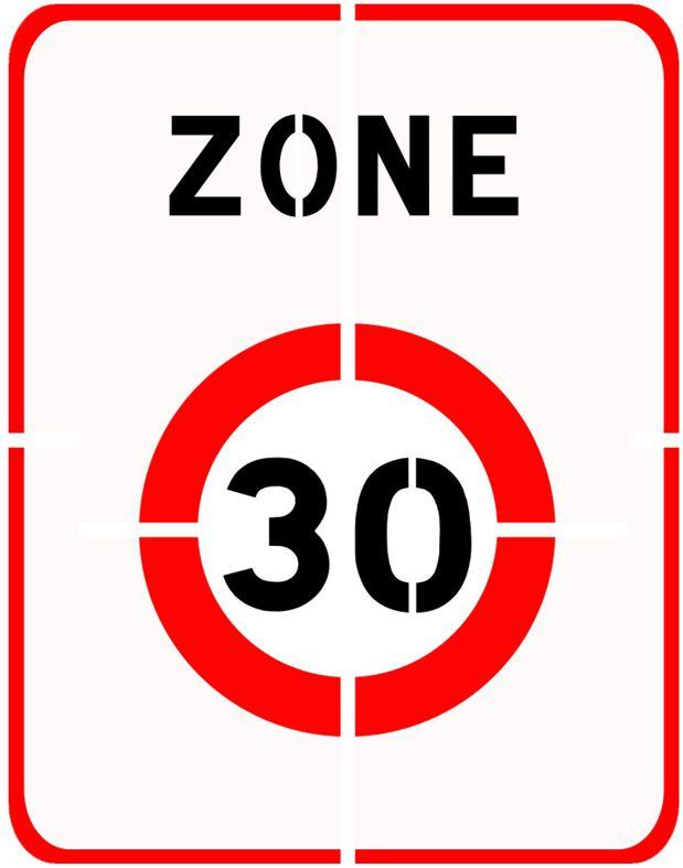 Panneau pochoir zone 30 pan30