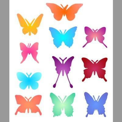 pochoir papillons