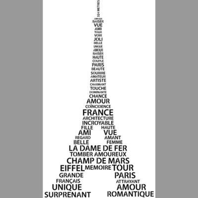 Paris tour eiffel en mots