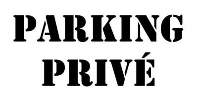 pochoir PARKING PRIVE