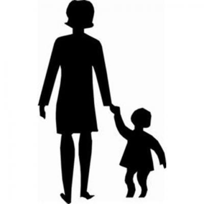 pochoir femme enfant