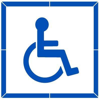 Pictogramme handicape dans un carre CE14