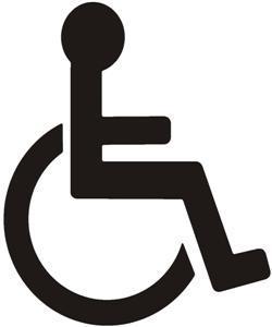 pochoir place handicape personne à mobilité réduite