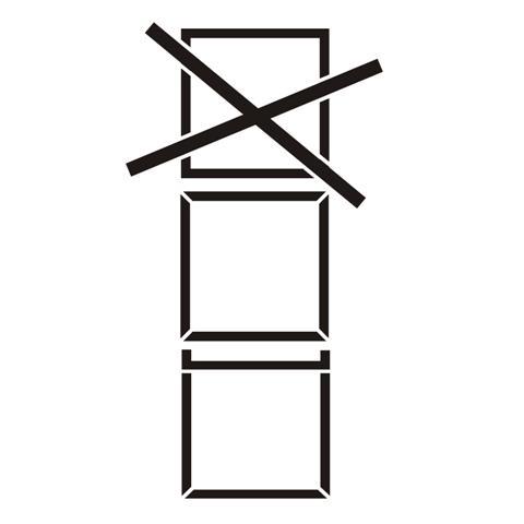 Pictogramme gerbage maximum pour caisses pochoir signalisation pict5487 small