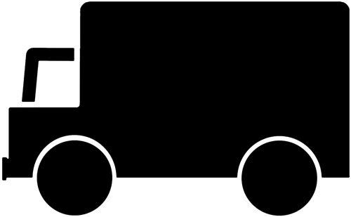 Pochoir camion signalisation parking emplacement reserve ref park56