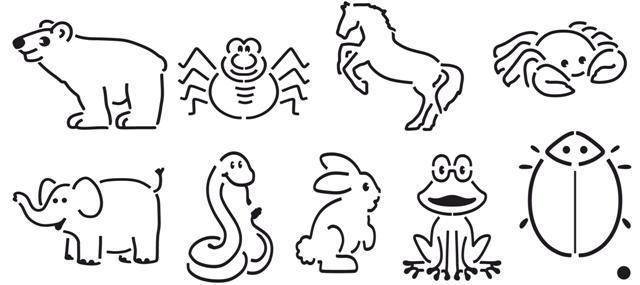 Pochoir ecole animaux small