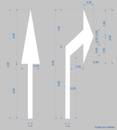 pochoirs de fl ches panneaux signalisation routi re. Black Bedroom Furniture Sets. Home Design Ideas