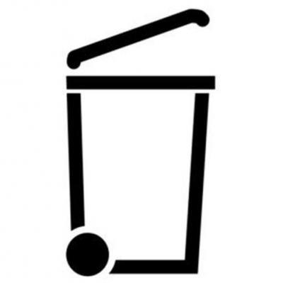 pochoir poubelle