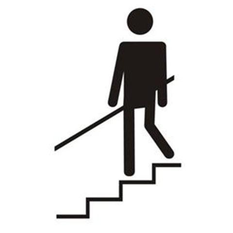Pochoir pictogramme escalier