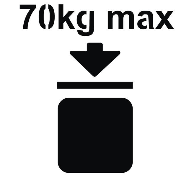 Pochoir pictogramme poids max