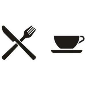 Pochoir pictogramme restaurant couverts cafeteria
