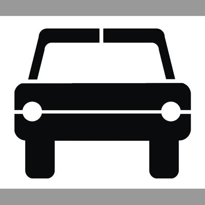Pochoir pictogramme voiture p