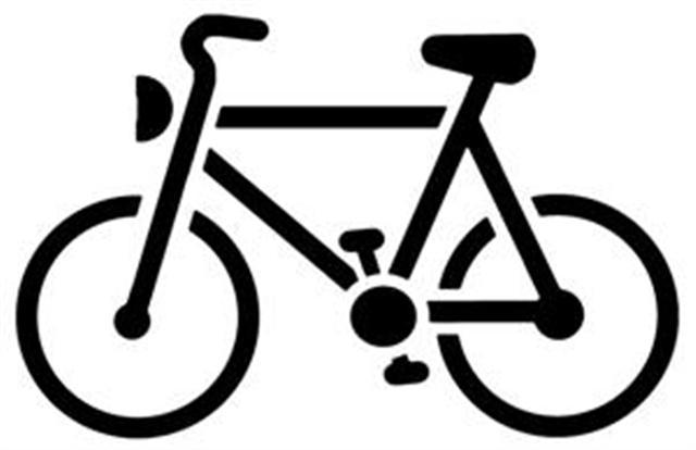 Pochoir velo bicyclette