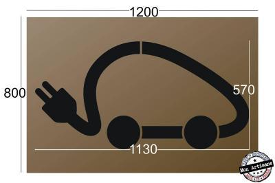 Pochoir en BOIS voiture électrique