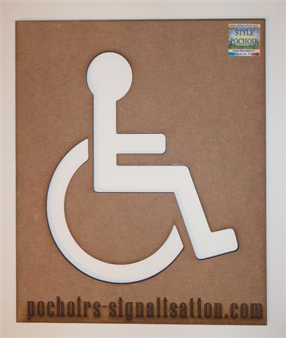 pochoir bois handicape photo