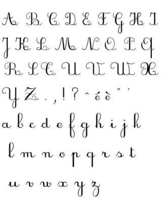Pochoir alphabet scolaire