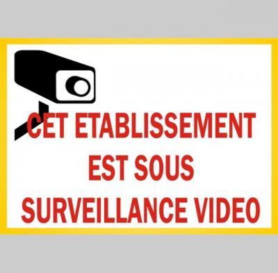 Autocollant camera de surveillance
