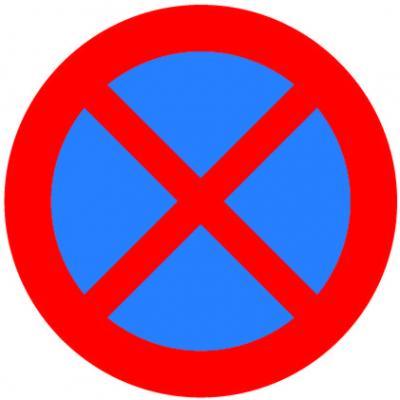 Autocollant Arret et Stationnement interdits