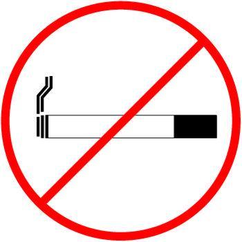 Autocollant interdit de fumer