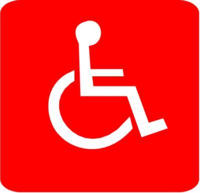 Autocollant personne handicapée -PMR