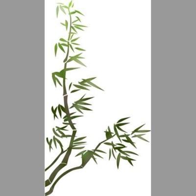 pochoir bambou, design japonais