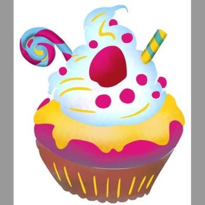 pochoir petit cupcake