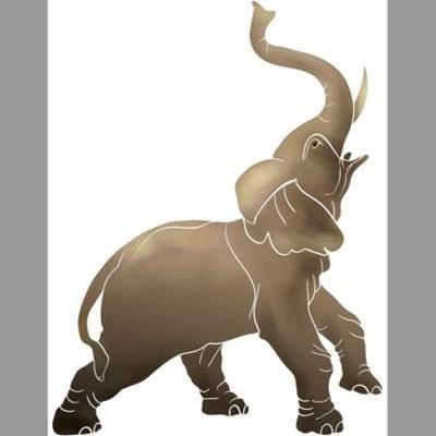 pochoir éléphant