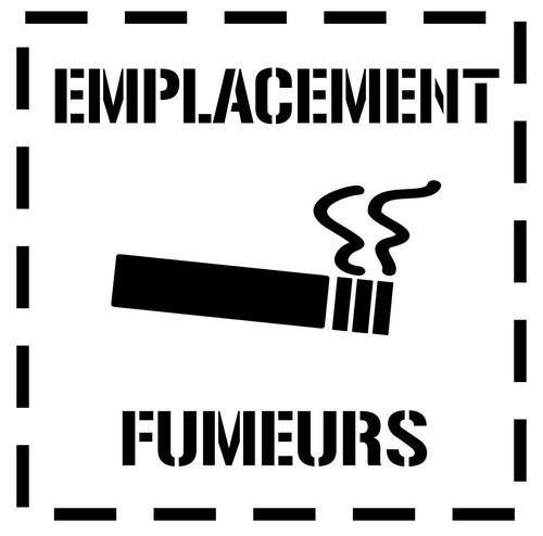 Emf10 emplacement fumeurs pochoir zone fumeurs