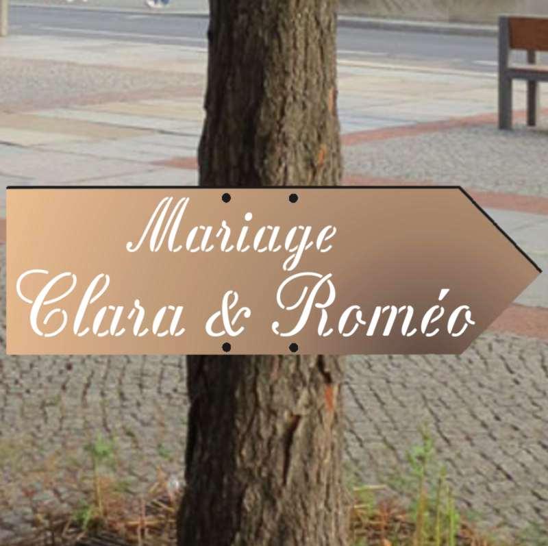Fleche pour panneaux indications en bois mariage