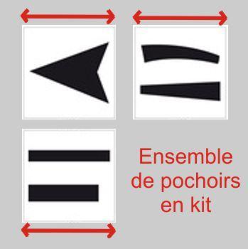 kit de pochoirs pour flèches routières