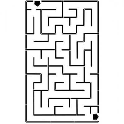 Pochoir labyrinthe pour école