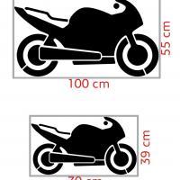 Marq8104 pochoir moto parking signalisation sol cotes