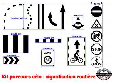 Parcours vélo signalisation routière