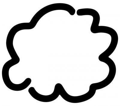 pochoir nuage