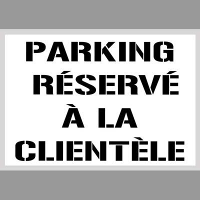 Parking reseve a la clientele