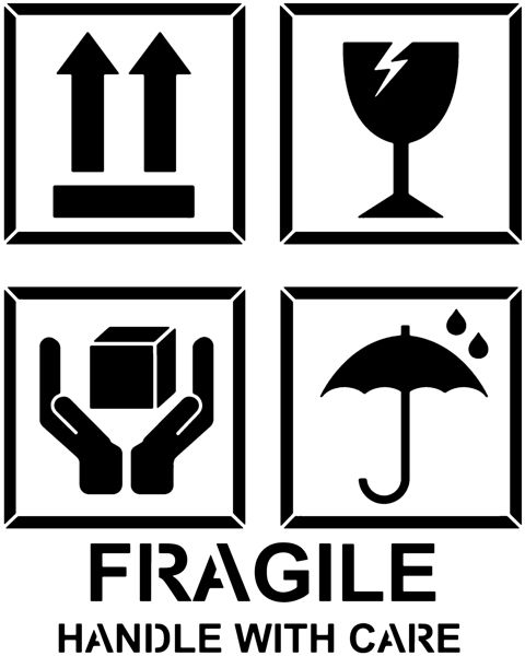 Pict87002 pochoir fragile manutention caisse handle with care