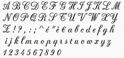 Pochoir alphabet Rosa Stencil