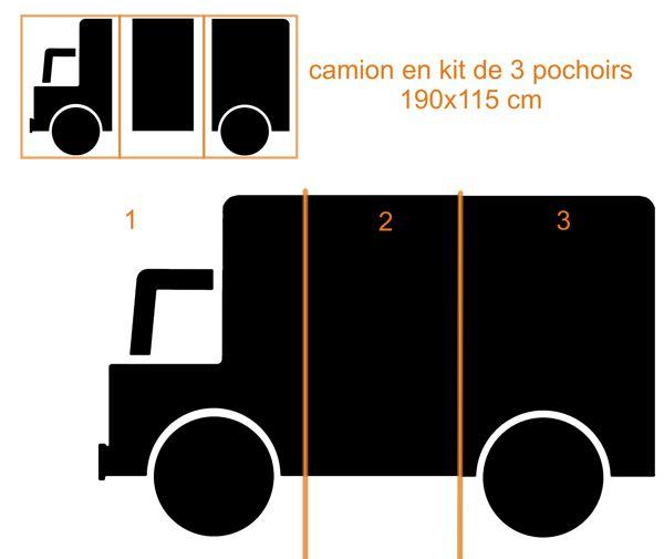 Pochoir camion signalisation 190x115 en kit park56