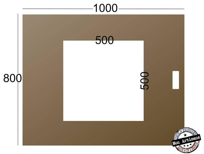 Pochoir cedez le passage 50x50 80x100 medium
