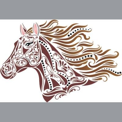 Pochoir cheval
